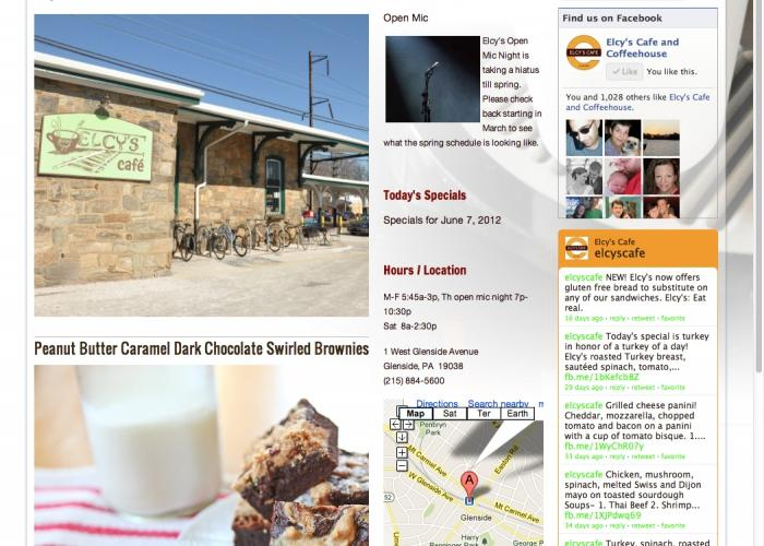 Elcy's Cafe website