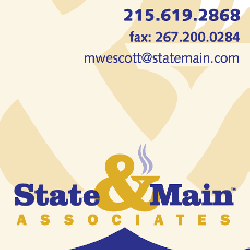 State & Main business card