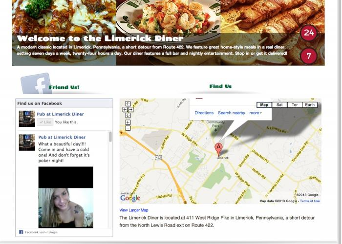 Limerick Diner  website