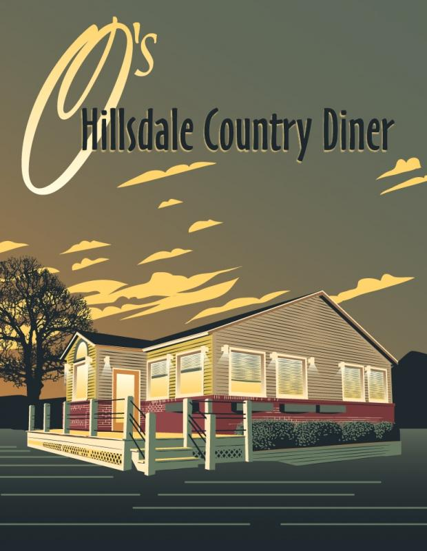 O's Hillsdale Country Diner menu cover